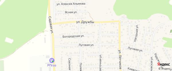 Богородская улица на карте села Михайловки с номерами домов