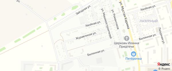 Журавлиная улица на карте Стерлитамака с номерами домов