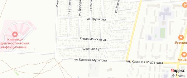 Первомайская улица на карте Стерлитамака с номерами домов