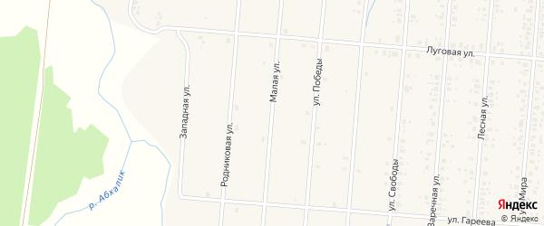 Малая улица на карте села Старобалтачево с номерами домов