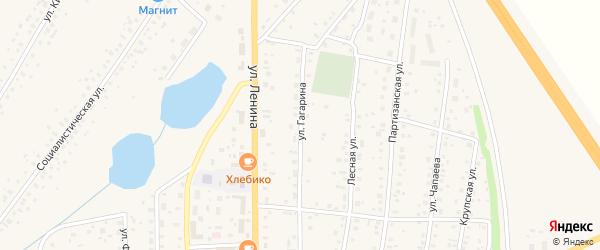 Улица Гагарина на карте села Толбазы с номерами домов