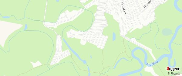 СНТ Сосновый бор на карте Уфы с номерами домов