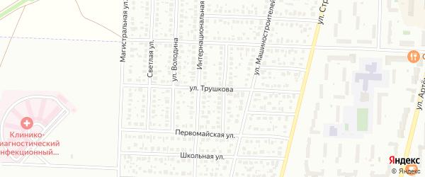 Улица Трушкова на карте Стерлитамака с номерами домов