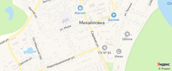 Подгорный переулок на карте села Михайловки с номерами домов