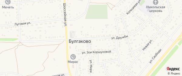 Улица Дружбы на карте села Булгаково с номерами домов