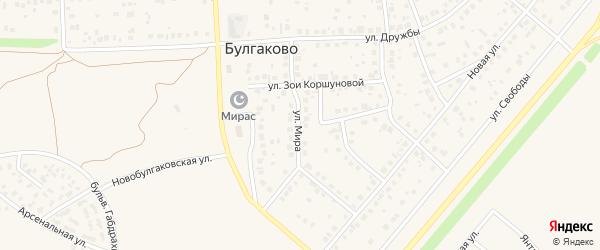 Улица Мира на карте села Булгаково с номерами домов