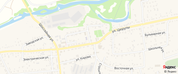 Конторский переулок на карте села Булгаково с номерами домов