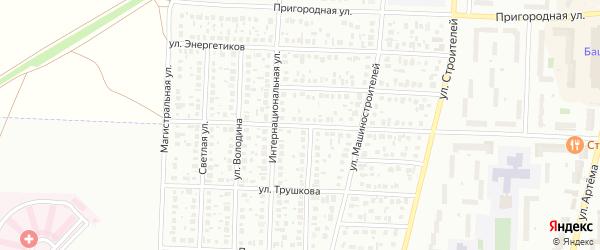Пролетарская улица на карте Стерлитамака с номерами домов