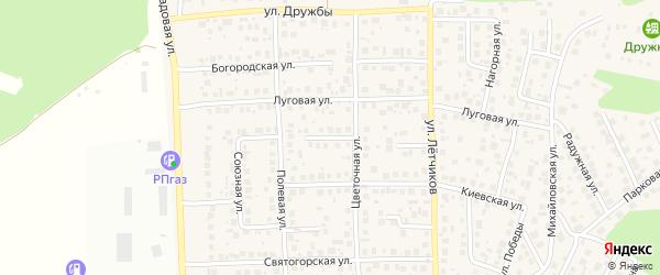 Зеленый переулок на карте села Михайловки с номерами домов