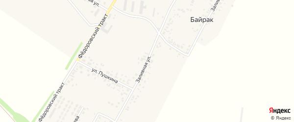 Заливная улица на карте деревни Байрака с номерами домов