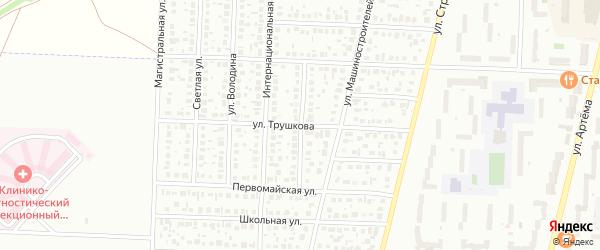 Строителей 4-й переулок на карте Стерлитамака с номерами домов