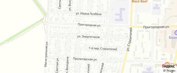 Улица Энергетиков на карте Стерлитамака с номерами домов