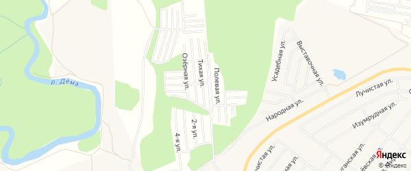 СНТ Тихие зори на карте Уфимского района с номерами домов
