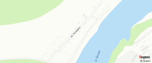 Улица Козарез на карте Уфы с номерами домов