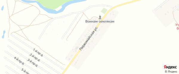Первомайская улица на карте села Наумовки с номерами домов