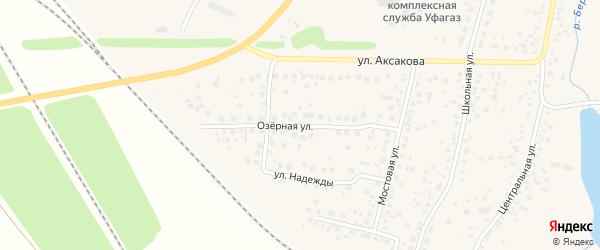 Озерная улица на карте села Зубово с номерами домов