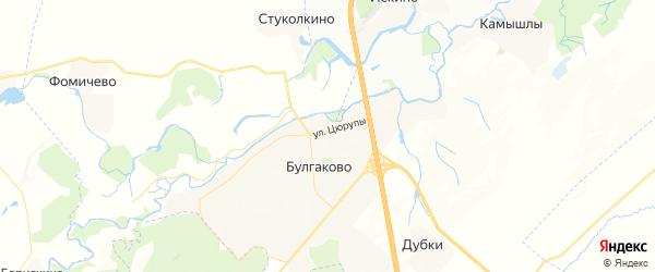Карта Булгаковского сельсовета республики Башкортостан с районами, улицами и номерами домов