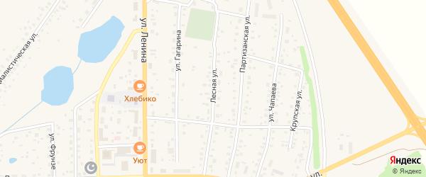 Лесная улица на карте села Толбазы с номерами домов
