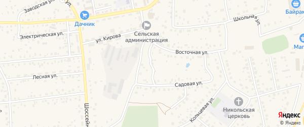 Строительная улица на карте села Булгаково с номерами домов