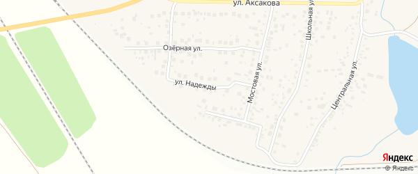 Улица Надежды на карте села Зубово с номерами домов