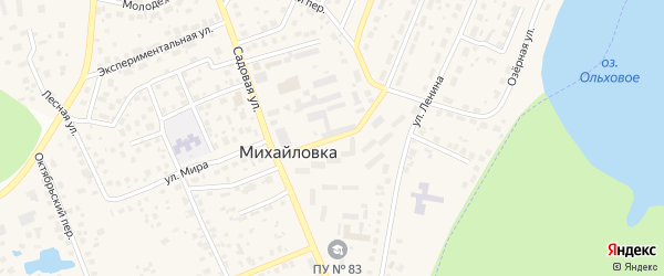 Промышленная улица на карте села Михайловки с номерами домов
