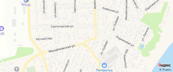 Элитный переулок на карте села Михайловки с номерами домов