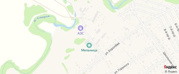 Стерлинская улица на карте села Новой Отрадовки с номерами домов