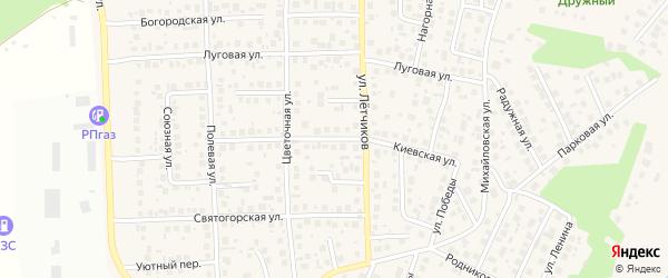 Киевская улица на карте села Михайловки с номерами домов