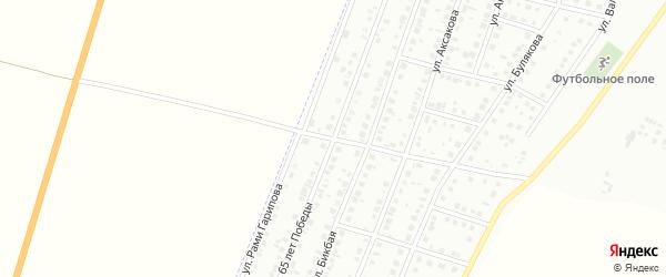 Улица 65 лет Победы на карте Мелеуза с номерами домов