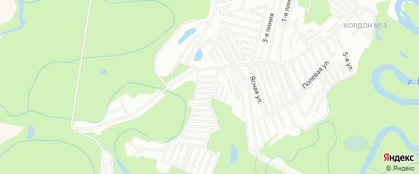 СНТ Ясная поляна на карте Уфимского района с номерами домов