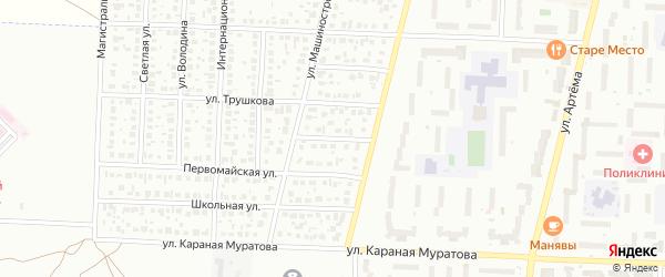 Строителей 3-й переулок на карте Стерлитамака с номерами домов
