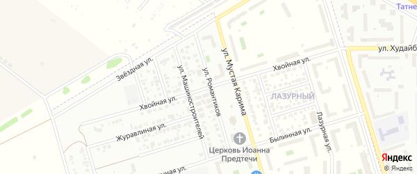 Хвойная улица на карте Стерлитамака с номерами домов