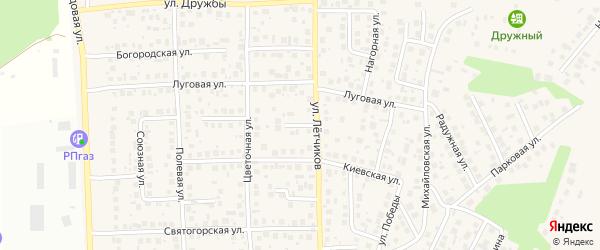 Тупиковый переулок на карте села Михайловки с номерами домов