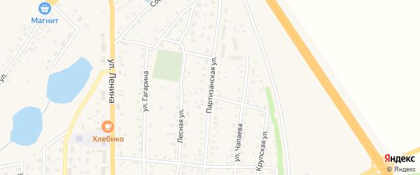 Партизанская улица на карте села Толбазы с номерами домов