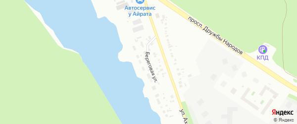 Береговая улица на карте Уфы с номерами домов