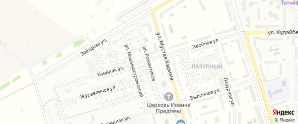 Улица Романтиков на карте Стерлитамака с номерами домов