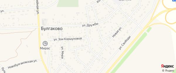 Интернациональная улица на карте села Булгаково с номерами домов
