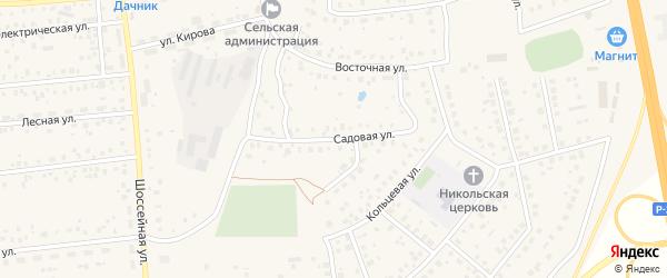 Садовая улица на карте села Булгаково с номерами домов