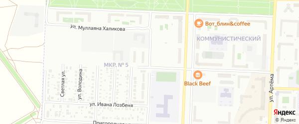Проезд Машиностроителей на карте Октябрьского с номерами домов