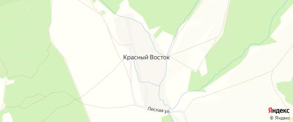 Карта деревни Красного Востока в Башкортостане с улицами и номерами домов