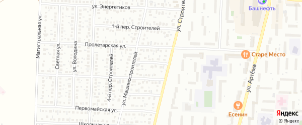 Строителей 2-й переулок на карте Стерлитамака с номерами домов