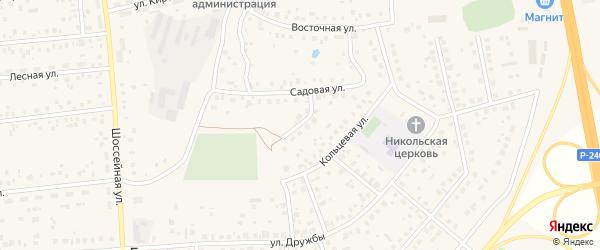 Садовый переулок на карте села Булгаково с номерами домов