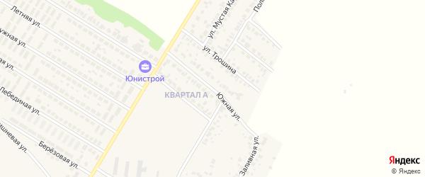 Улица Мажита Гафури на карте деревни Байрака с номерами домов
