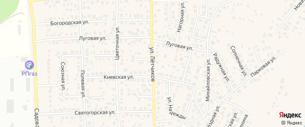 Улица Летчиков на карте села Михайловки с номерами домов