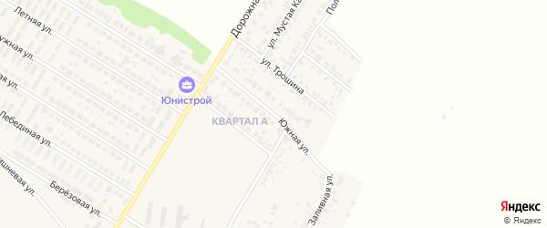Южная улица на карте села Загородного с номерами домов