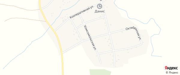 Комсомольская улица на карте деревни Иштыбаево с номерами домов
