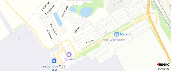 СНТ Авиатор на карте Уфимского района с номерами домов
