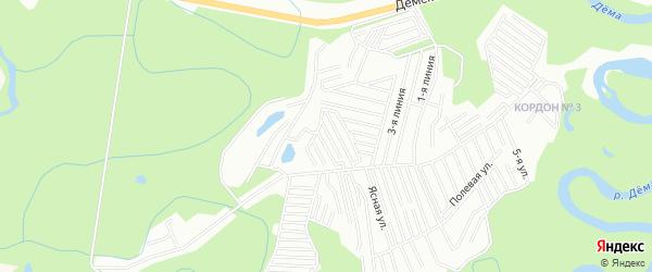 СНТ Виктория на карте Уфимского района с номерами домов