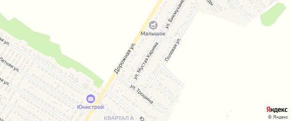Улица Мустая Карима на карте села Загородного с номерами домов