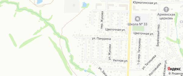 Цветочный переулок на карте Стерлитамака с номерами домов